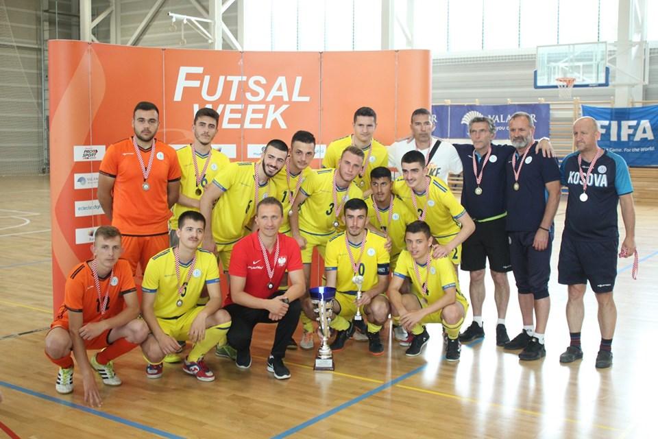 Futsall/ Kombëtarja U-19 zë vendin e dytë në turneun ndërkombëtar në Poreç