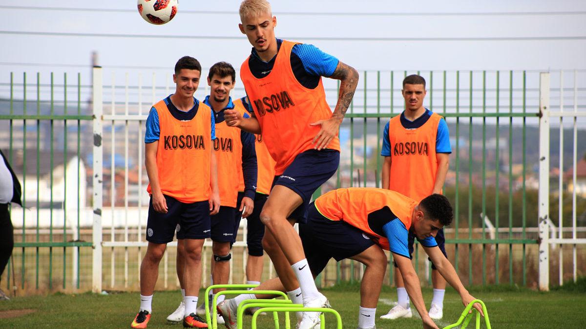 Kosovo U21, full intensity exercise for the match against Albania