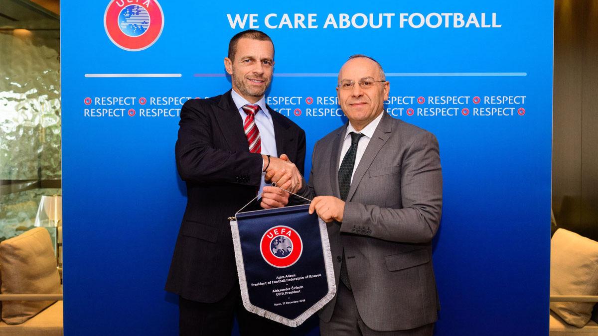 U mbajt takimi online i presidentit Çeferin me presidentët e 55 federatave anëtare të UEFA-s