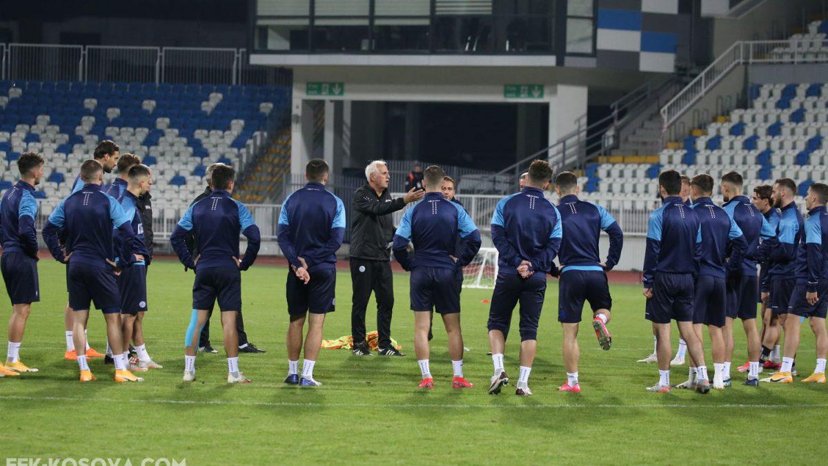Kombëtarja mbajti stërvitjen e fundit para duelit me sllovenët
