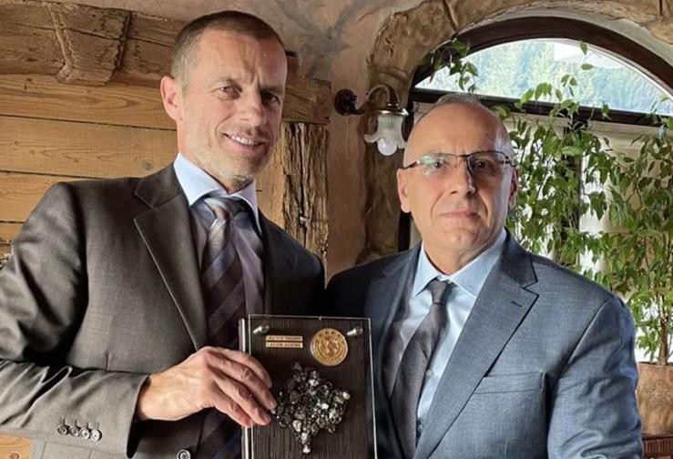Presidenti Ademi u prit nga presidenti i UEFA-s, Çeferin