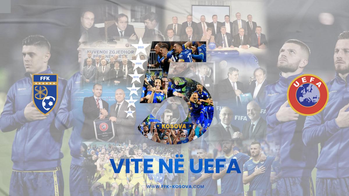 Mesazhi i presidentit Ademi për 5-vjetorin e anëtarësimit në UEFA