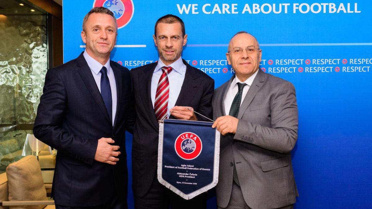 Presidenti Ademi dhe sekretari Salihu arrijnë në Romë për Kongresin e UEFA-s