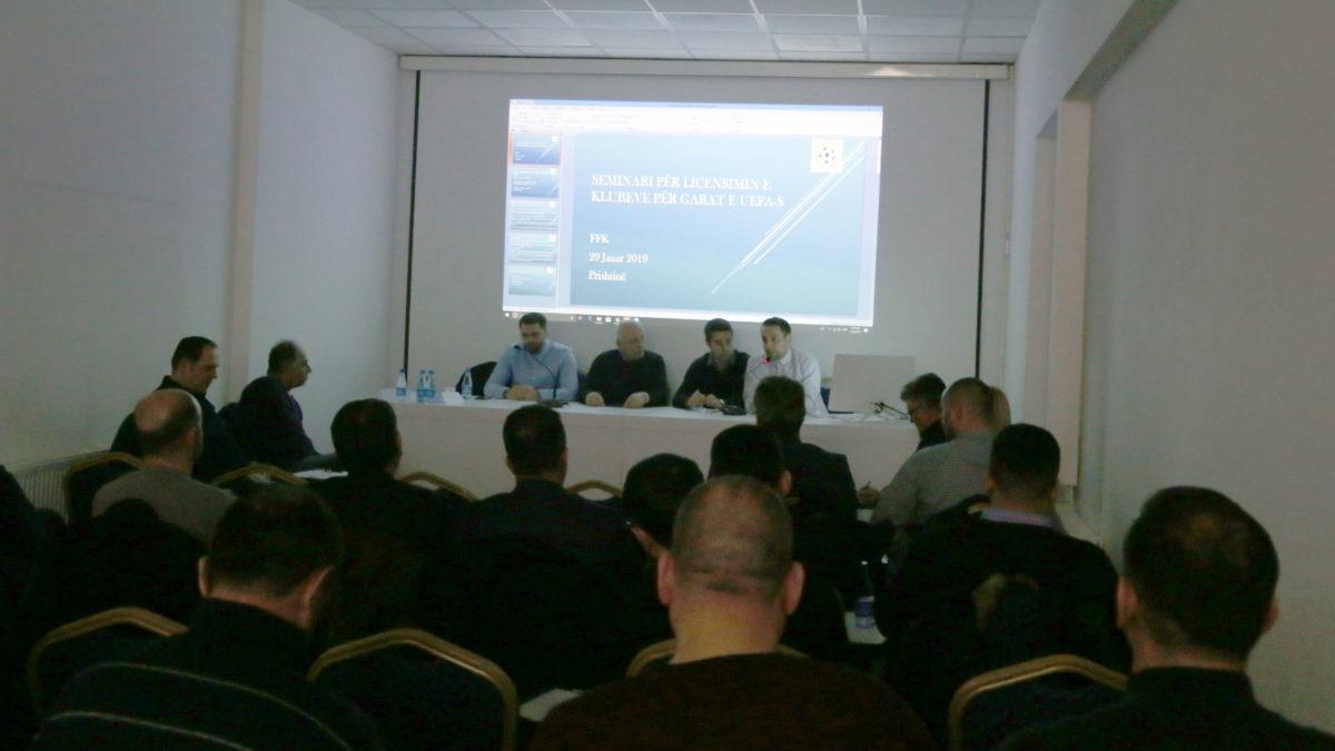 U mbajt seminari për licencim të klubeve për garat e UEFA-s