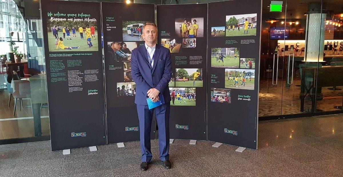 Sekretari i Përgjithshëm Salihu po merr pjesë në Konferencën e UEFA-s kundër racizmit