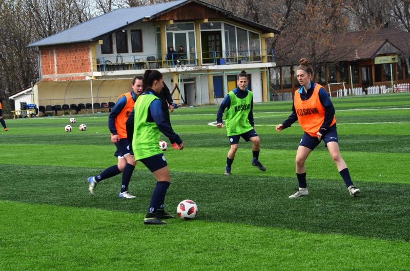 Kombëtarja A e femrave mbajti stërvitje para ndeshjes me Maqedoninë Veriore