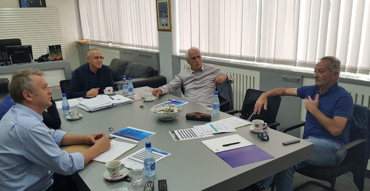 Presidenti Ademi dhe sekretari Salihu takuan shefin e edukimit në UEFA, Jean Francois Domergue
