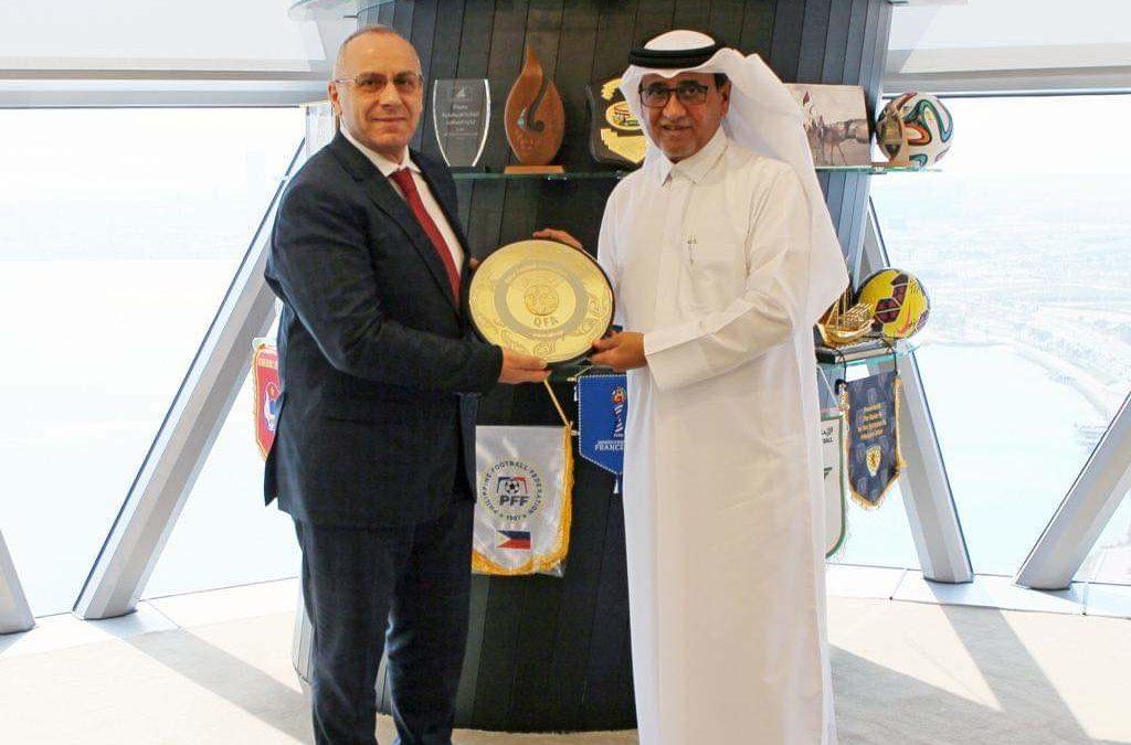 Presidenti Ademi vizitoi Federatën e Futbollit të Katarit