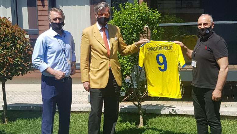 The German Ambassador receives Heads of FFK