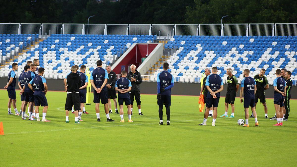 Kombëtarja zhvilloi stërvitjen e parë në prag të ndeshjes me Moldavinë