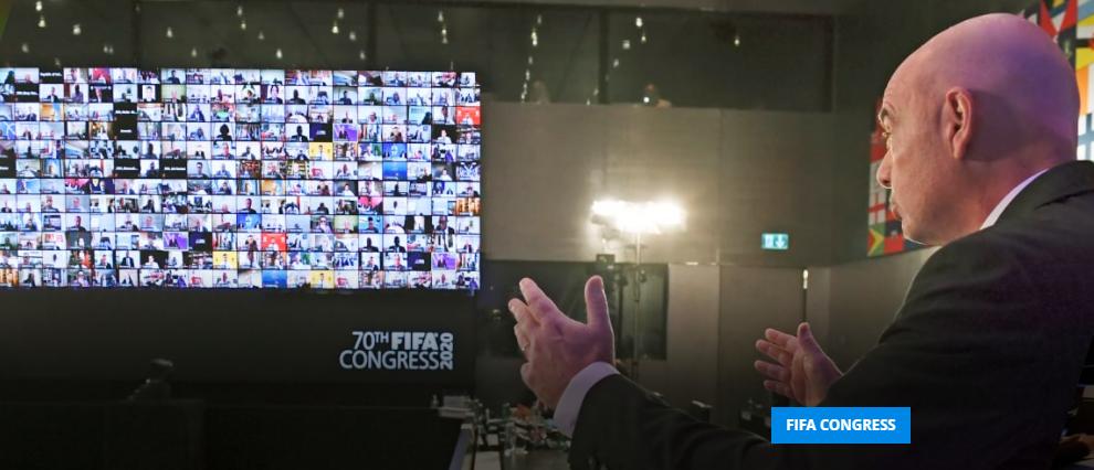 Filloi Kongresi i 70-të i FIFA-s, për herë të parë mbahet online