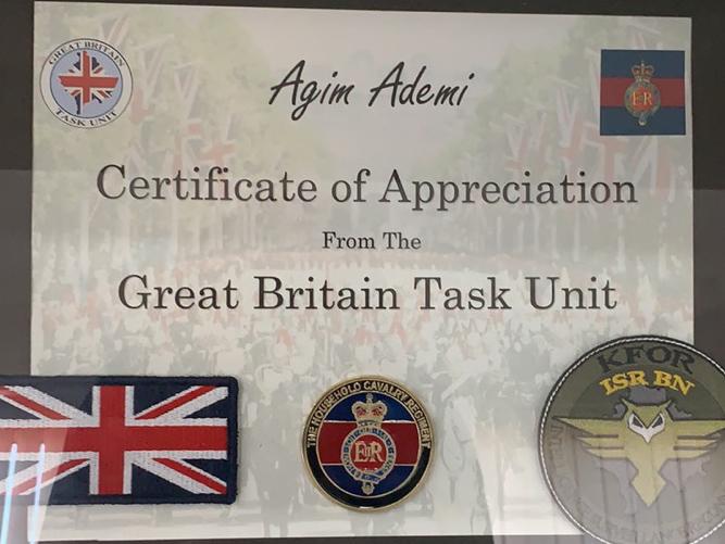 KFOR-i britanik nderon presidentin Ademi