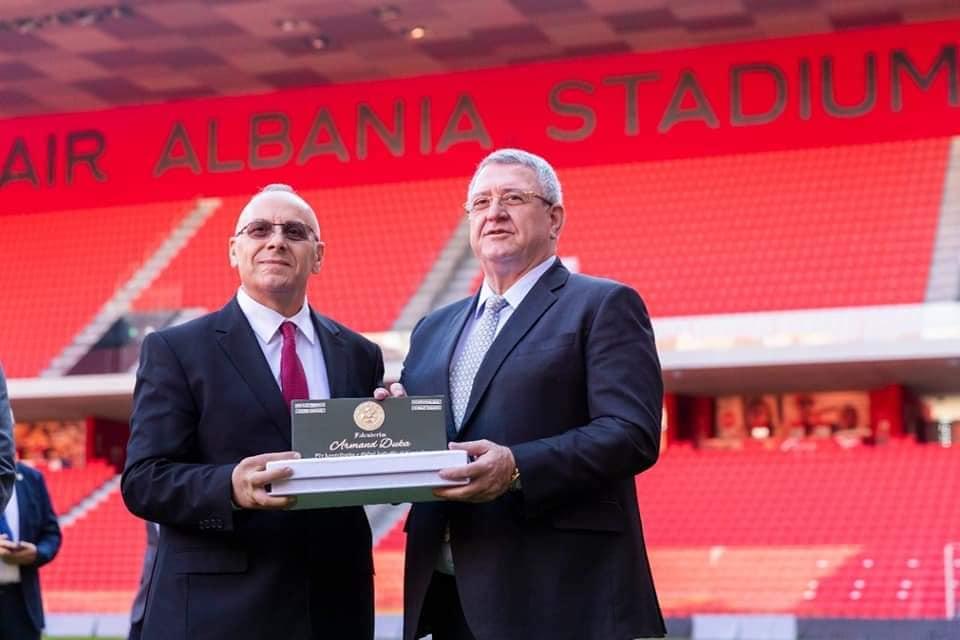 Duka uron presidentin Ademi për 5 vjetorin e pranimit në UEFA
