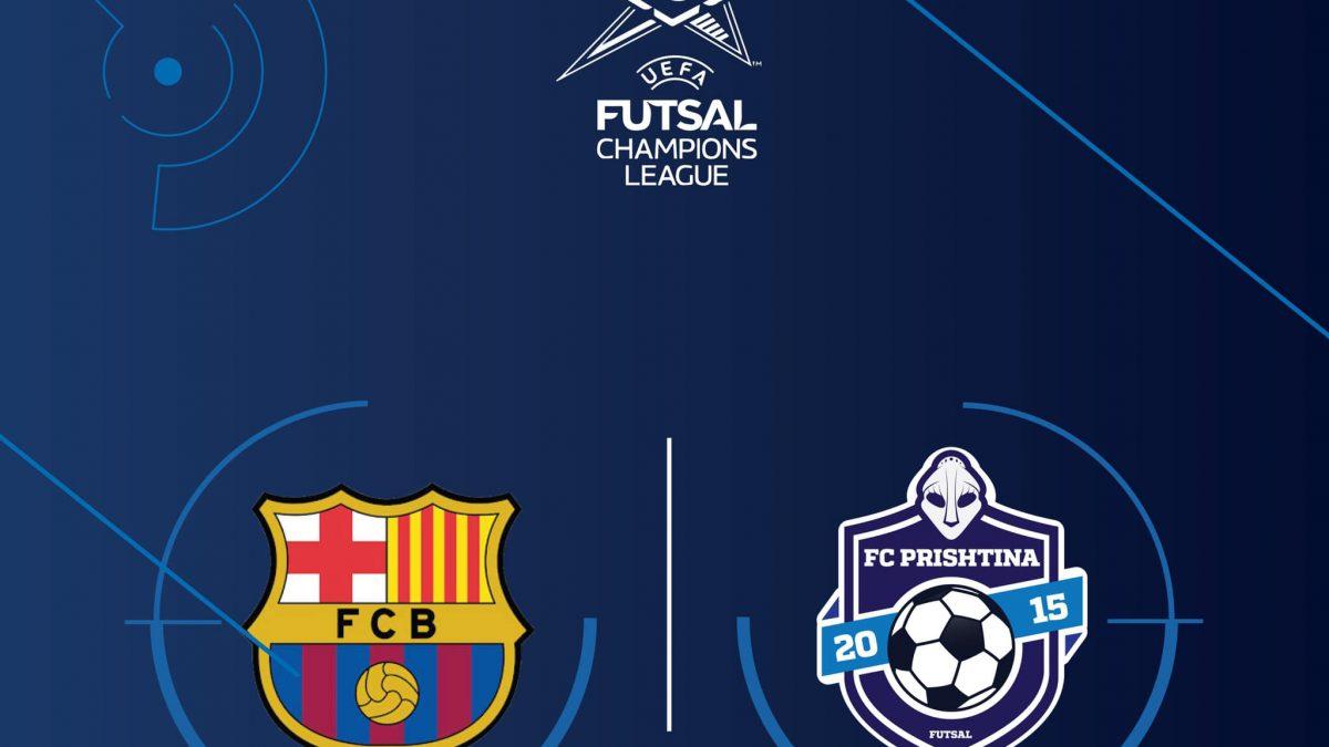 Prishtina do të jetë mysafire e Barcelonës në 1/16 e finales së Championsit