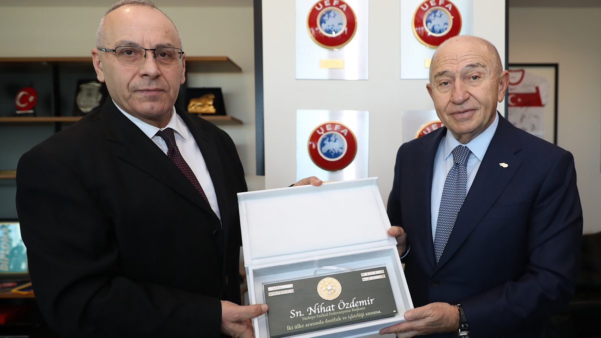 President Ademi meets with President Özdemir, a Memorandum of Cooperation signed with the Turkish Football Federation