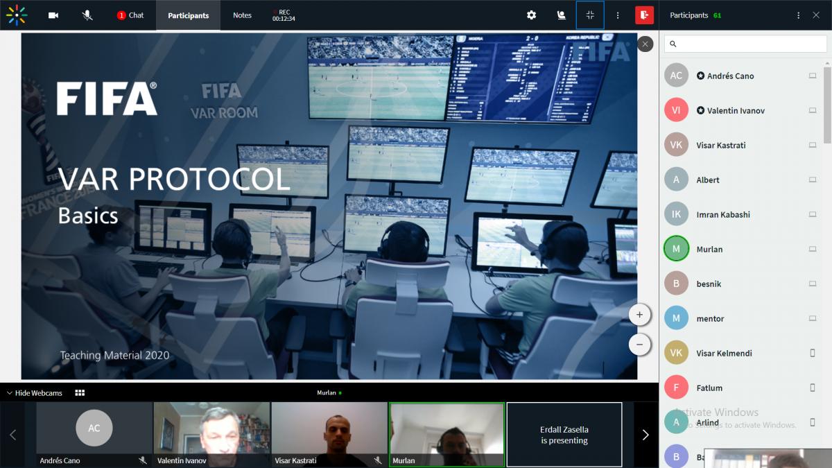 U mbajt trajnimi i parë online për sistemin VAR