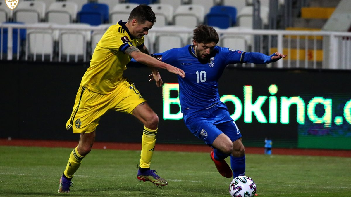 Sweden defeats Dardans in the first qualification match for the World Cup 2022