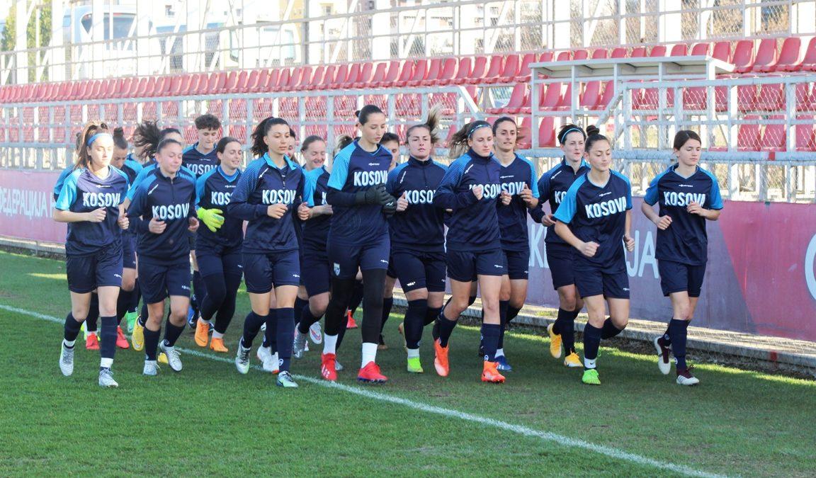 Kombëtarja A e femrave arrin në Shkup, mban stërvitjen e parë