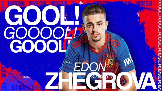 Edon Zhegrova shënon gol të bukur te Baseli